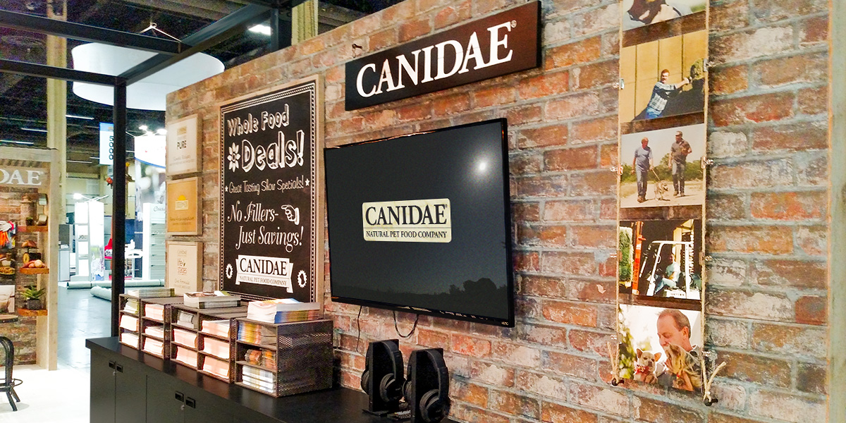 Food Exhibition Booth Design : Canidae pet food pieper