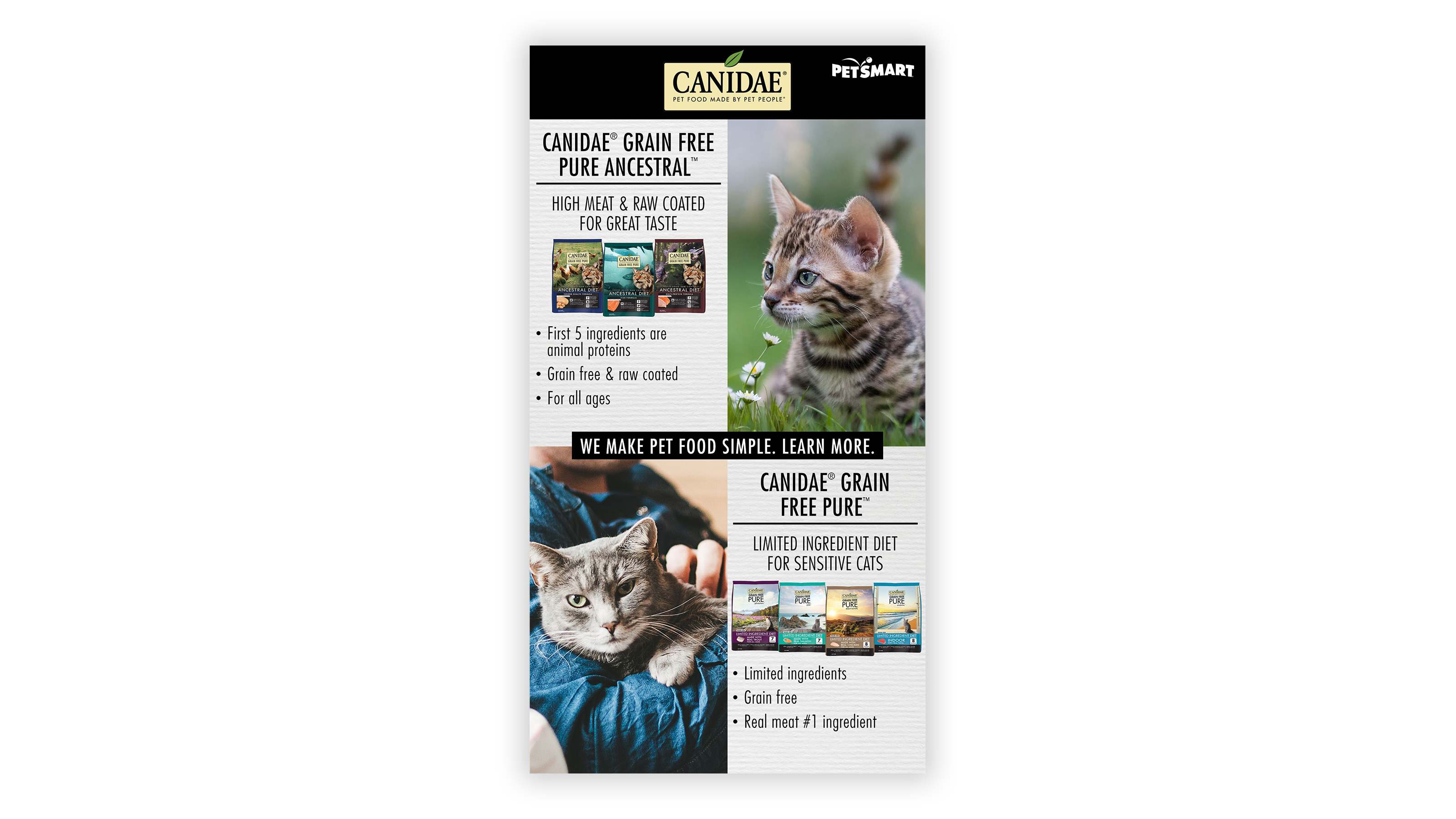 CANIDAE Digital ad for PetSmart