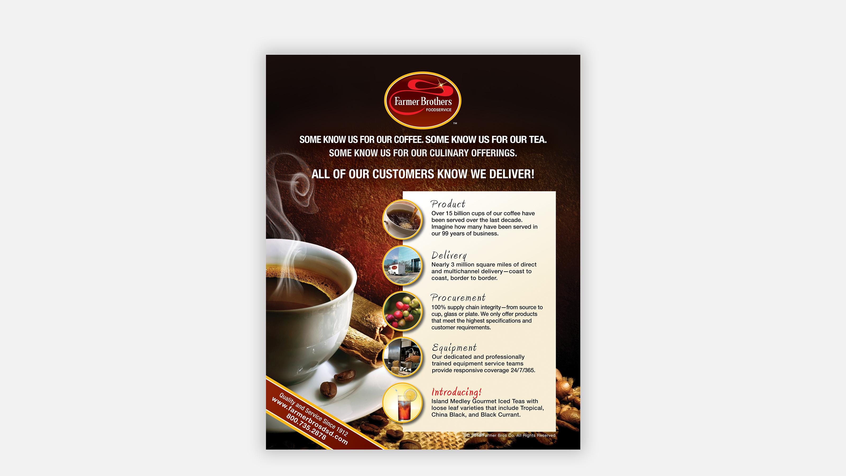Farmer Brothers Coffee Print Ad