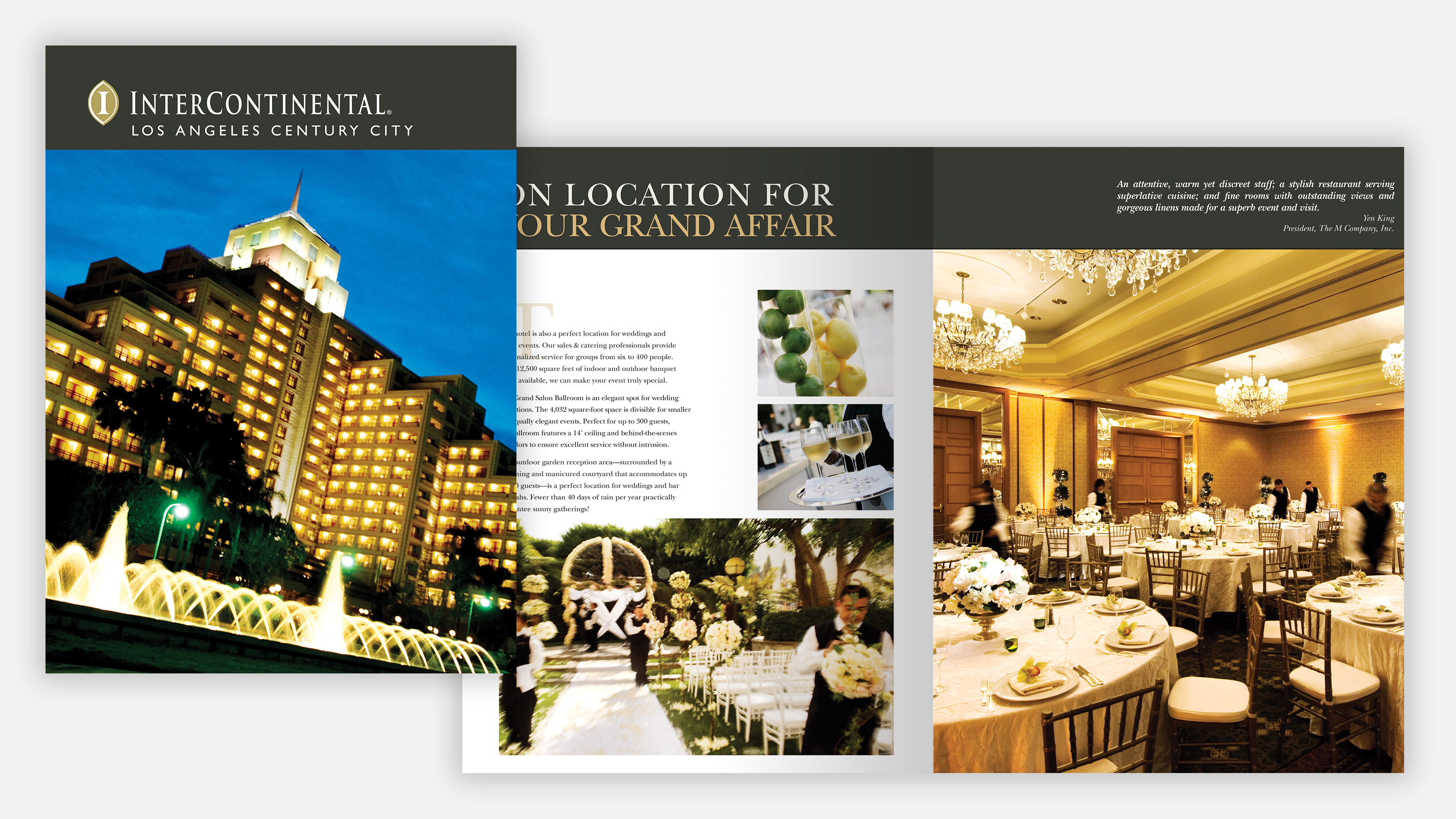 Intercontinental hotel marketing brochure