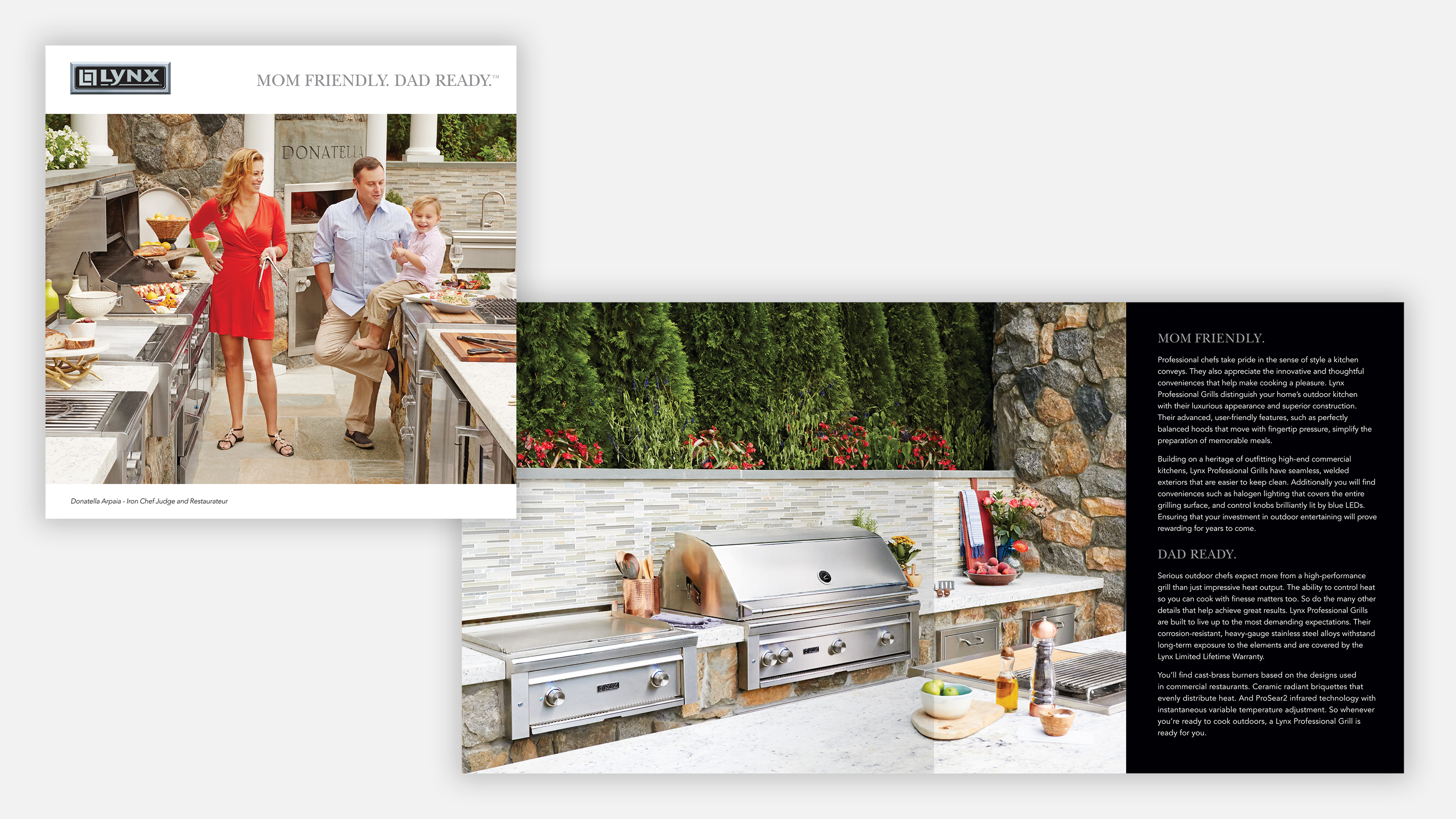 lynx grills marketing brochures about outdoor kitchens