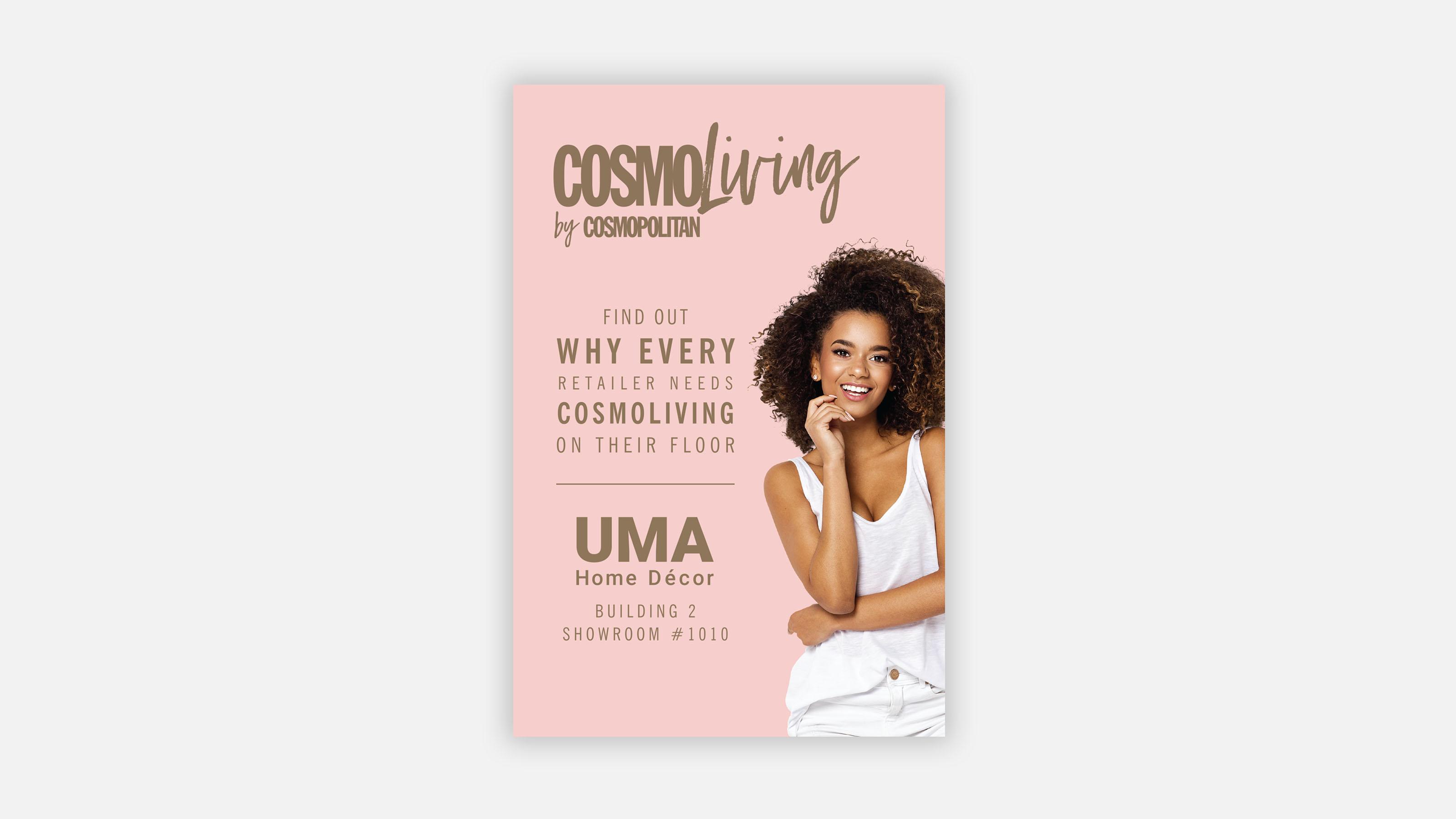 Uma ad in cosmopolitan magazine