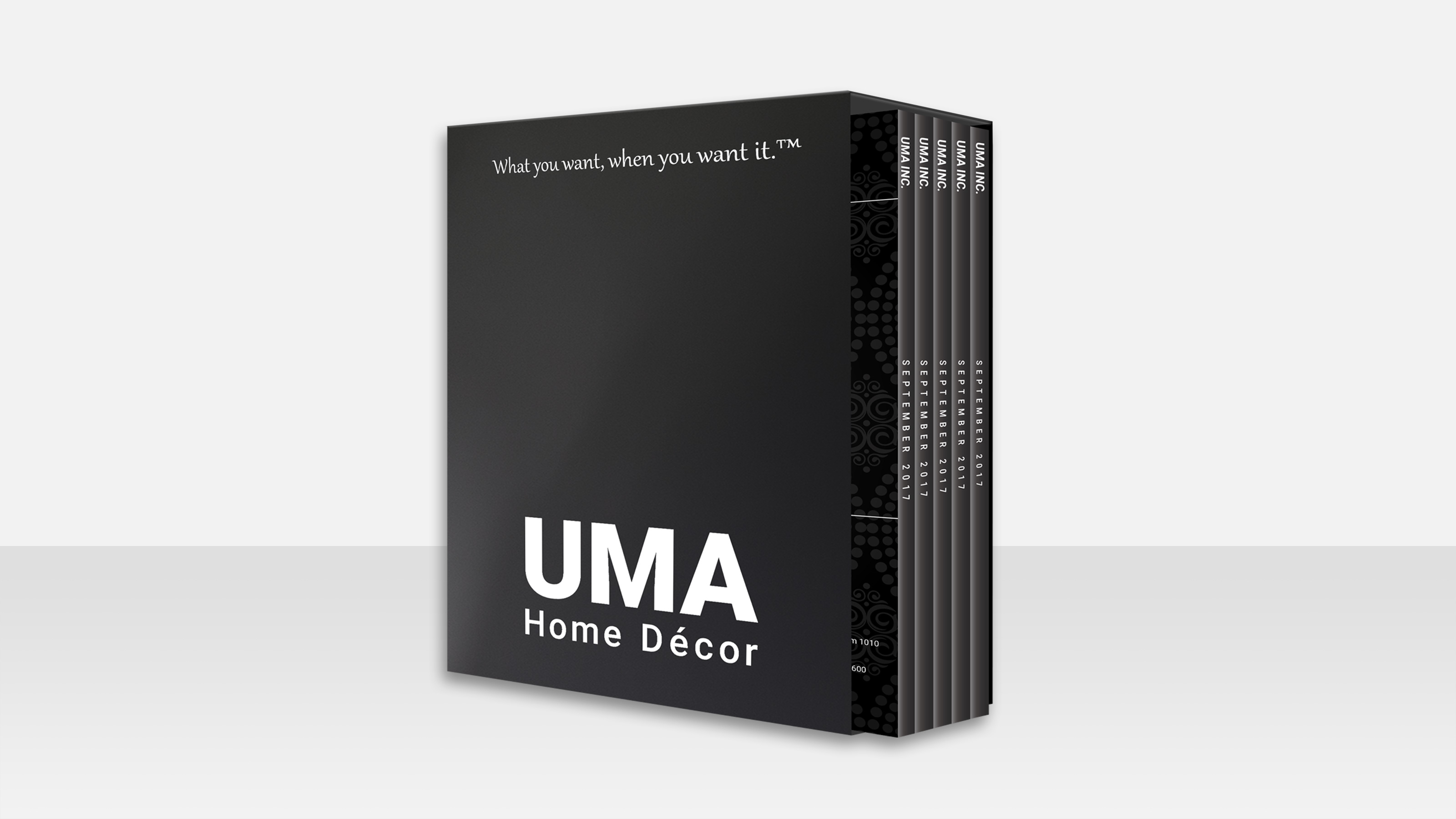 uma home decor packaging