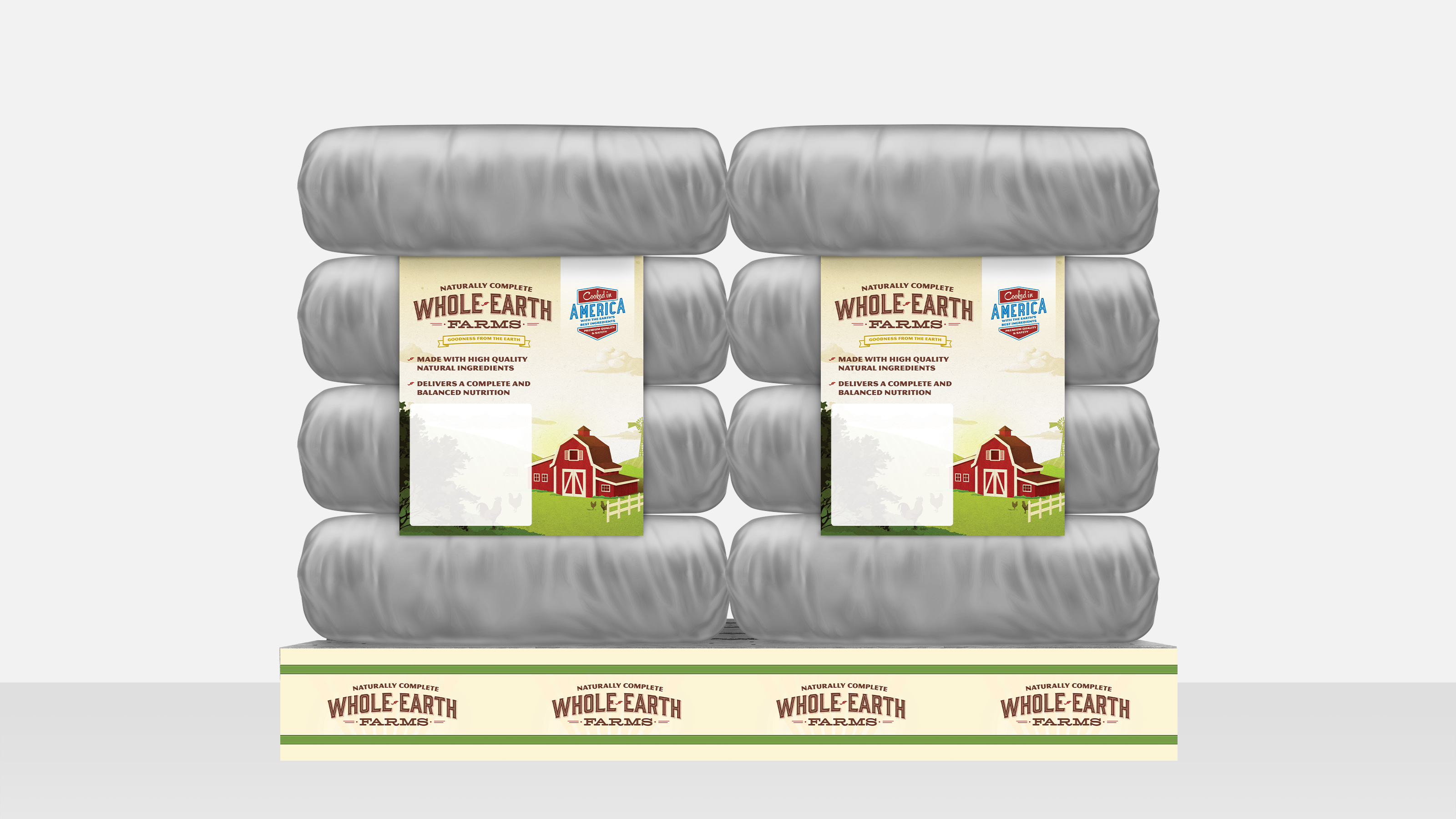 Whole earth farms point of purchase ad on pallet