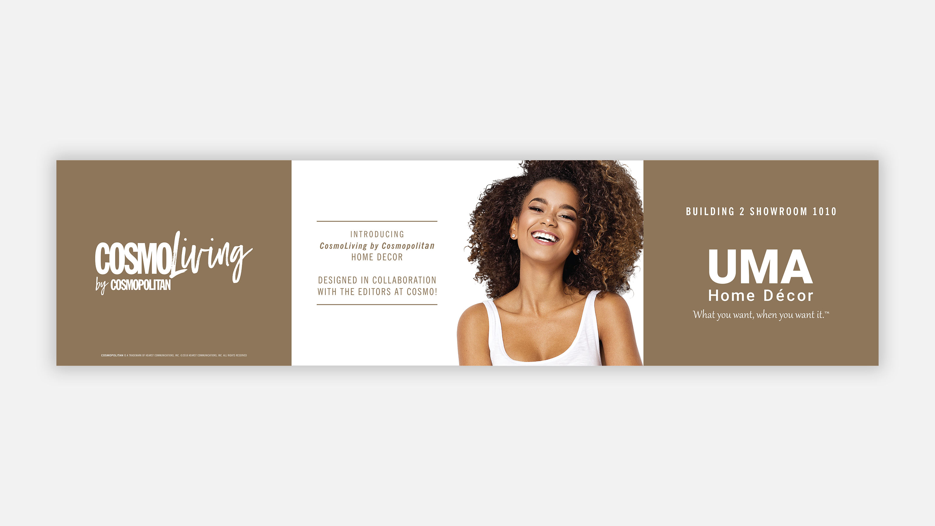 cosmo and uma tradeshow display banner
