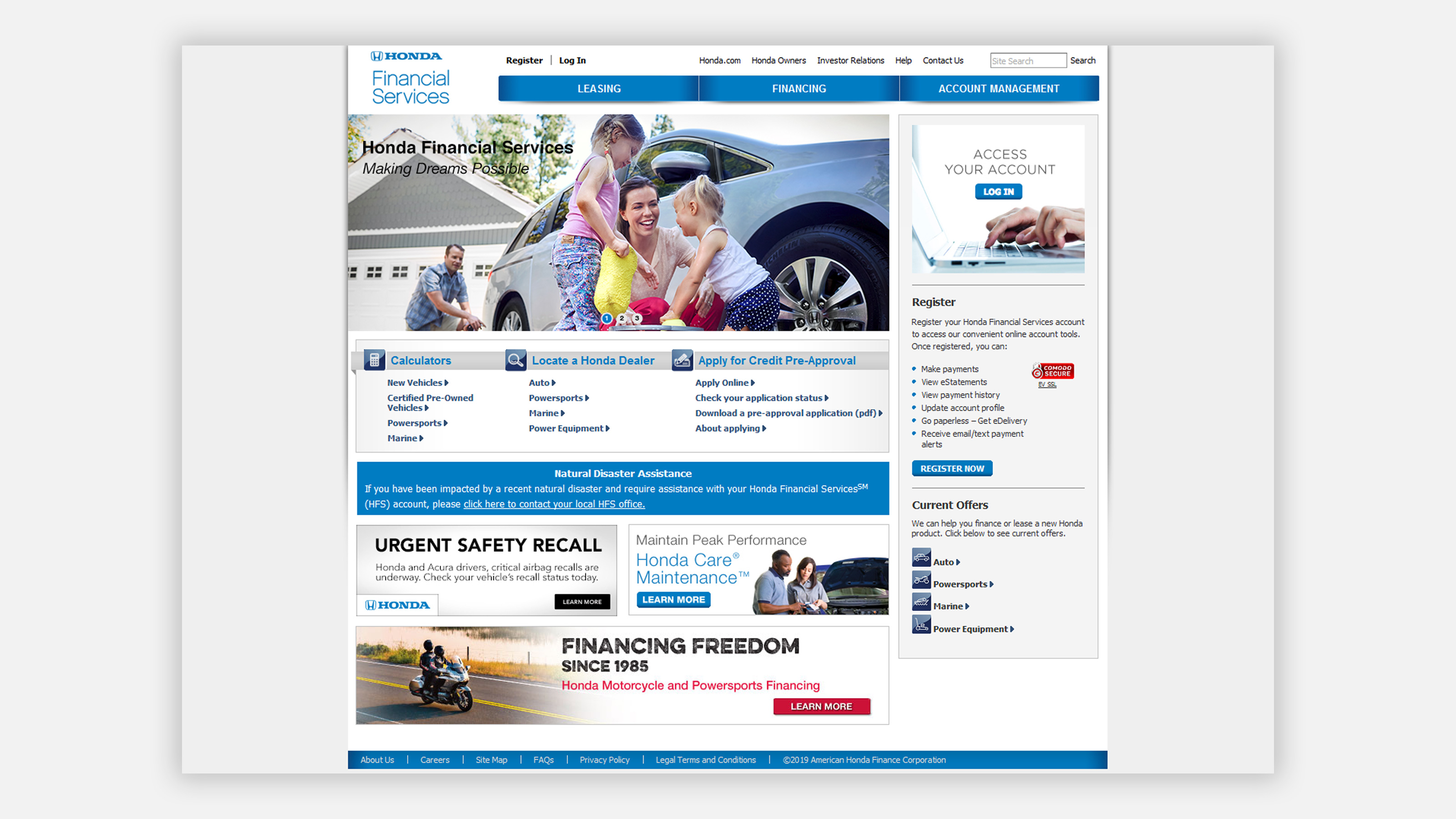 Honda Financial Services Account Management >> Web Honda Financial Services Pieper