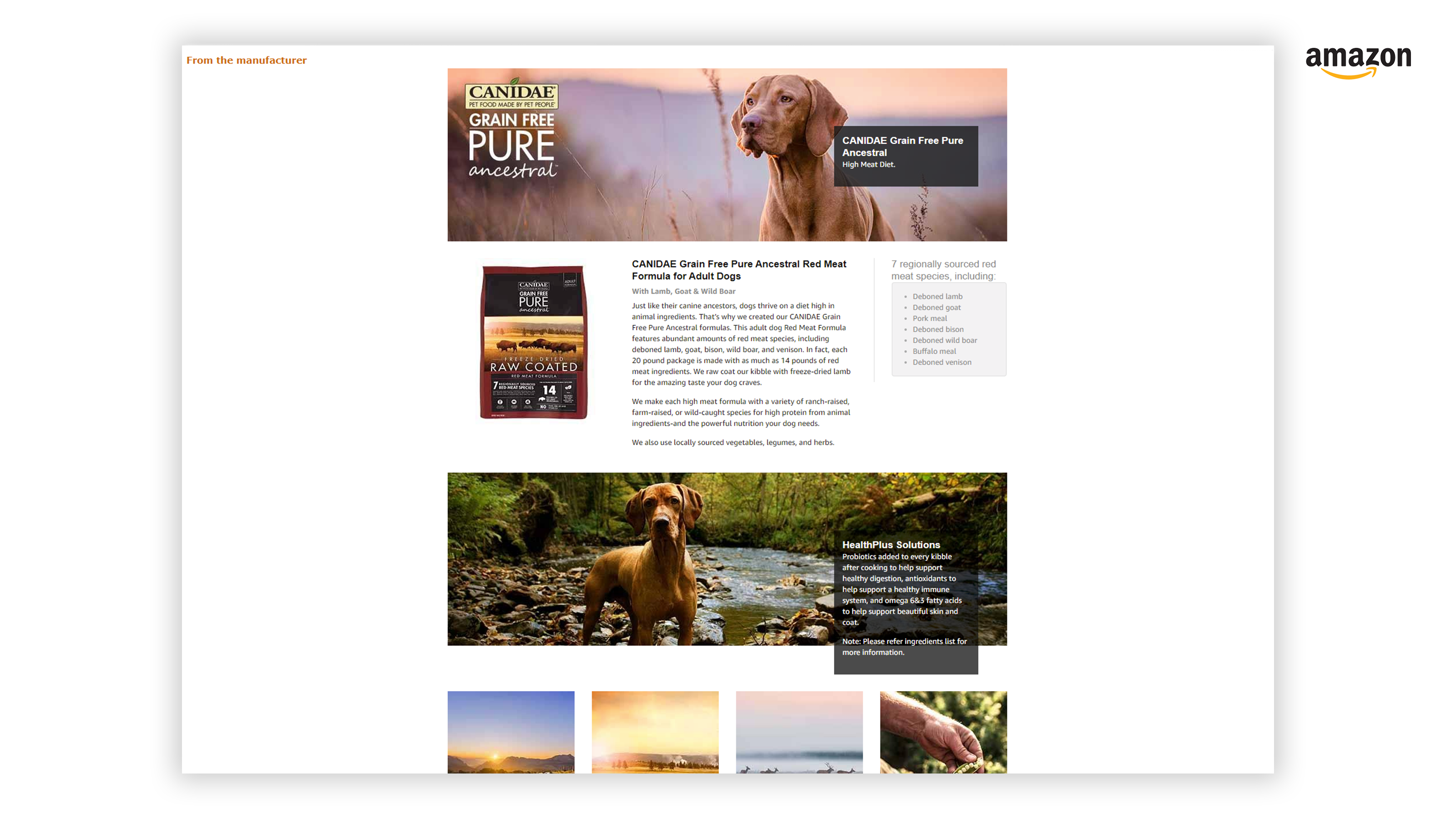 Canidae Ancestral Dog Food Amazon A+ Enhanced Content Page