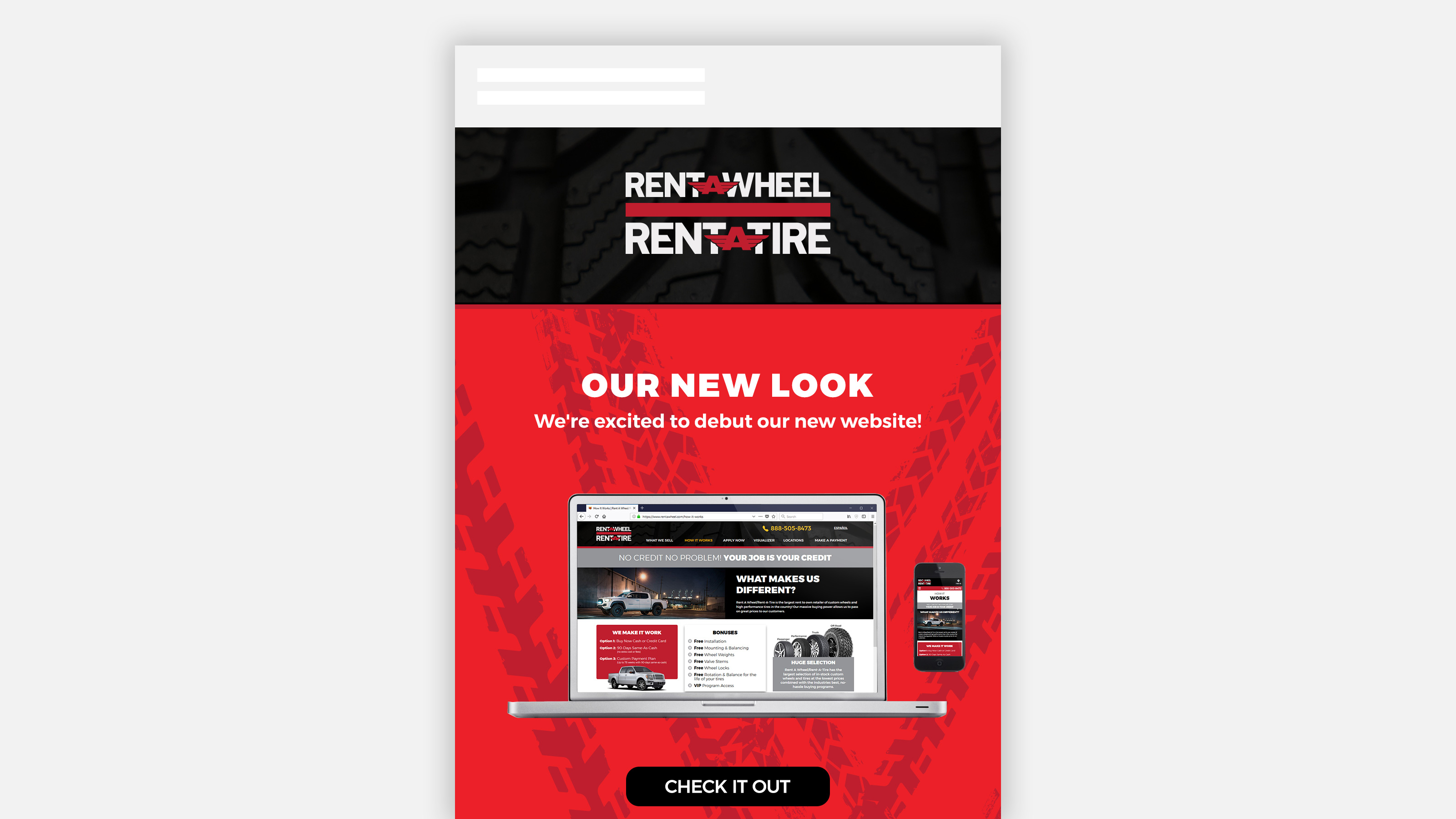 Rent A Wheel new look email