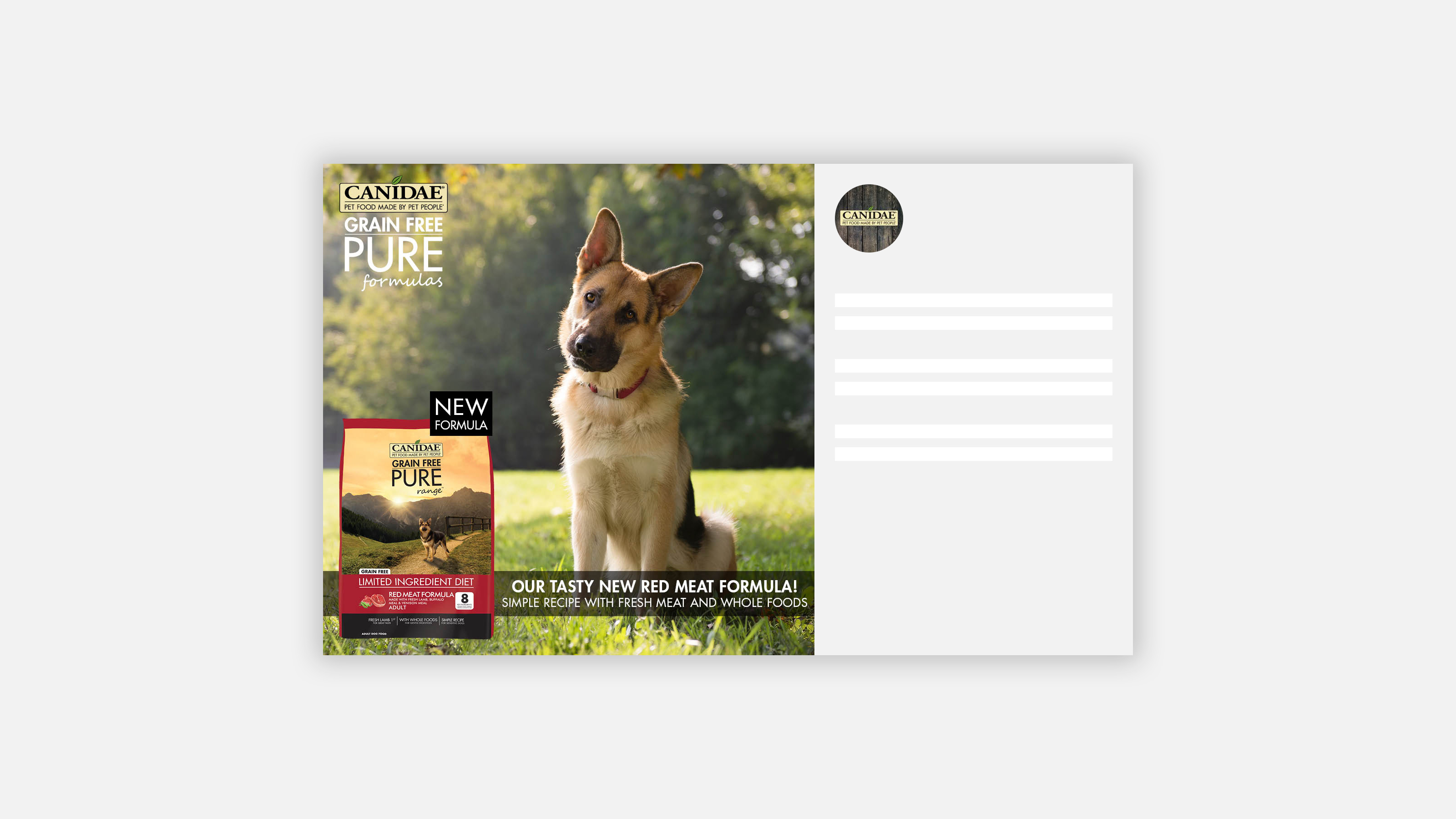 CANIDAE Pet Food Instagram image