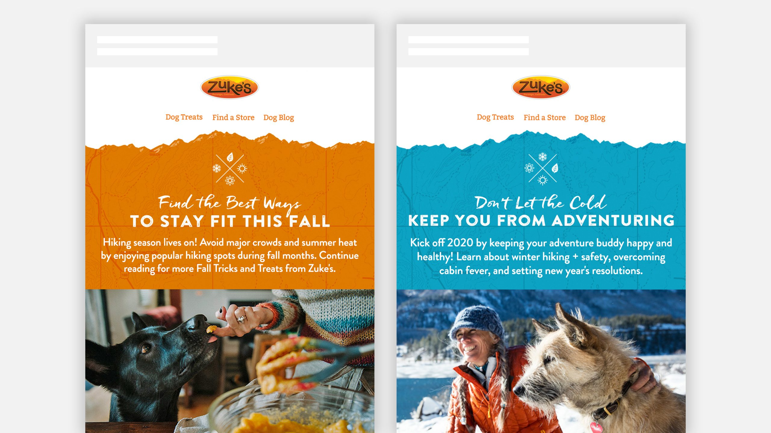 Zukes Fall and Winter Newsletter Email Marketing