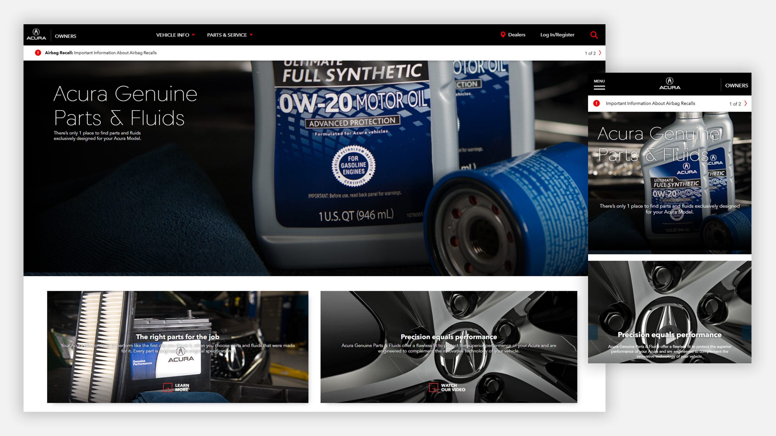 Acura Owners Website