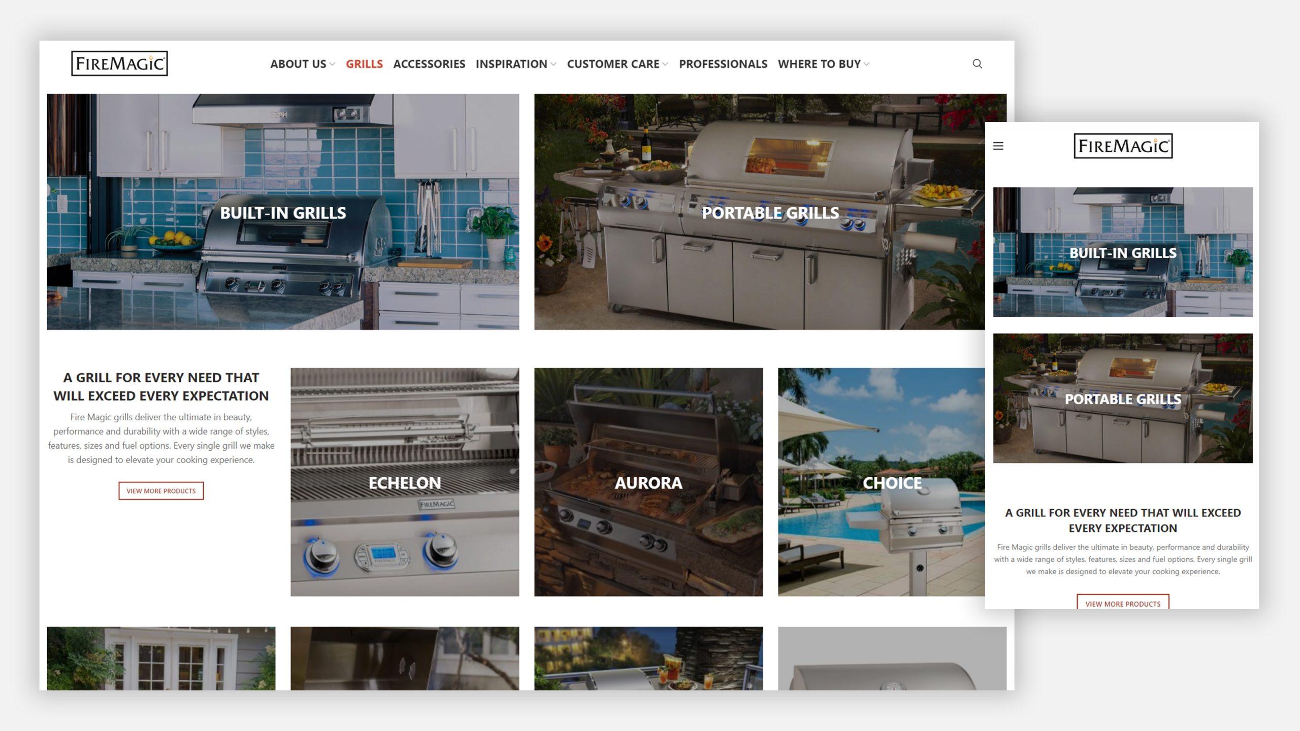 Fire Magic Grills website