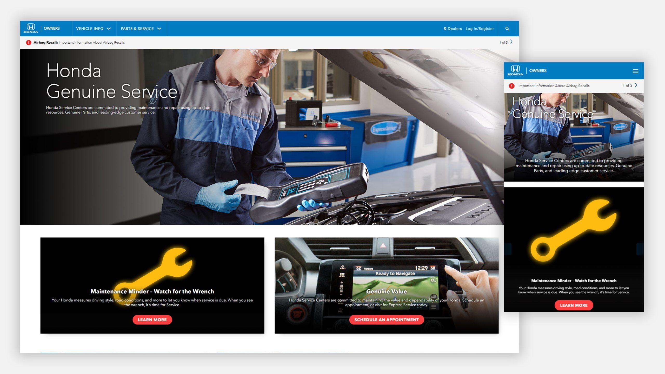 Honda Owners Website