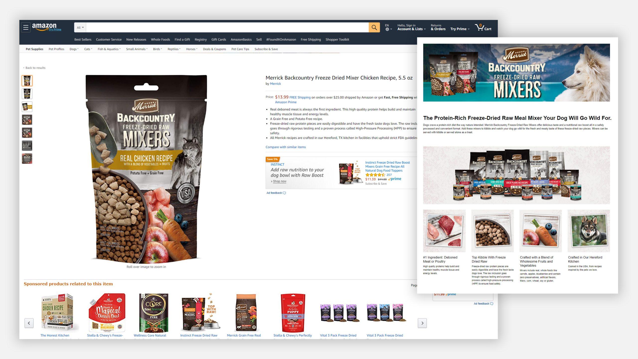 Merrick Amazon Backcountry Page