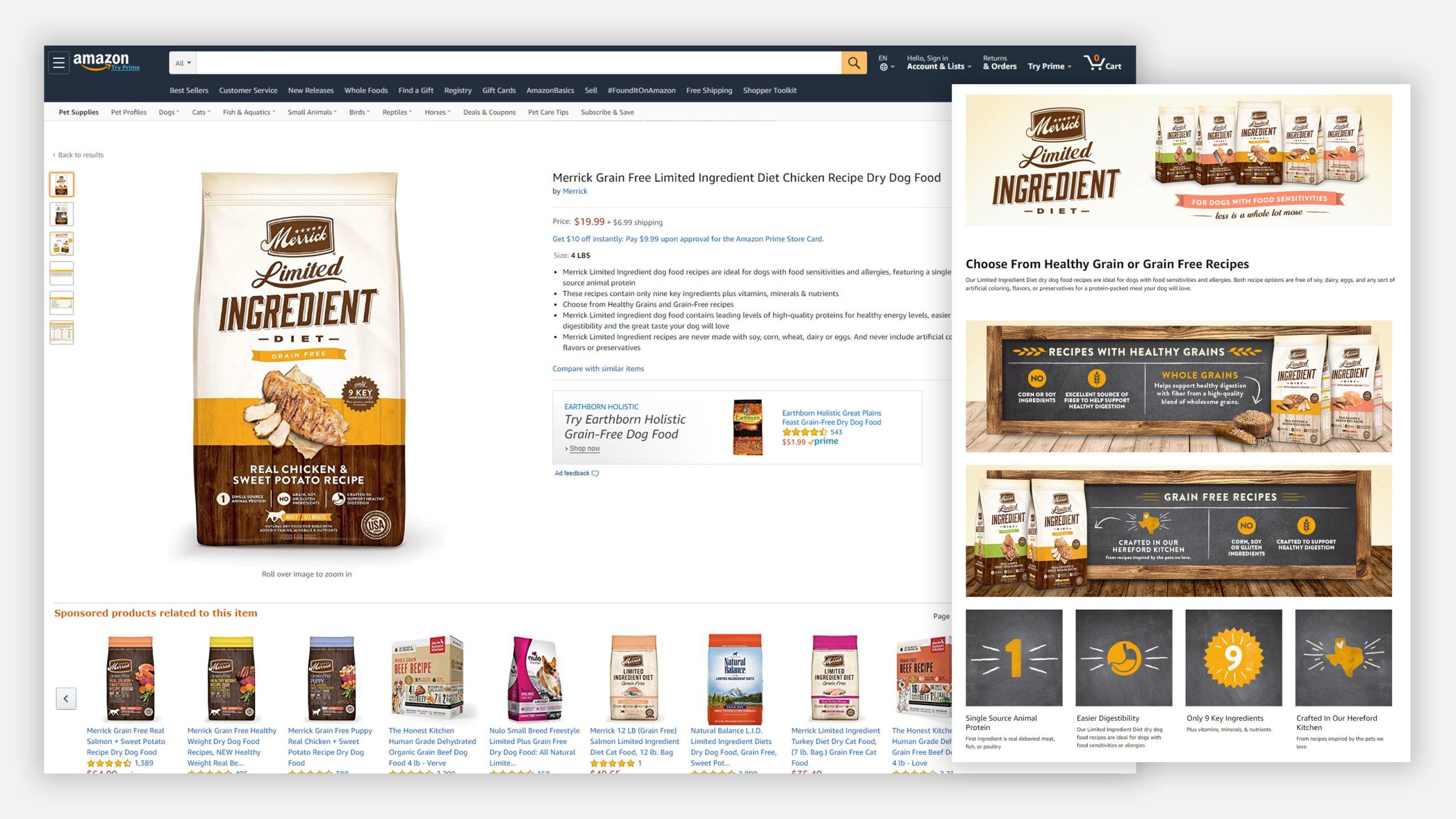 Merrick Amazon LID page