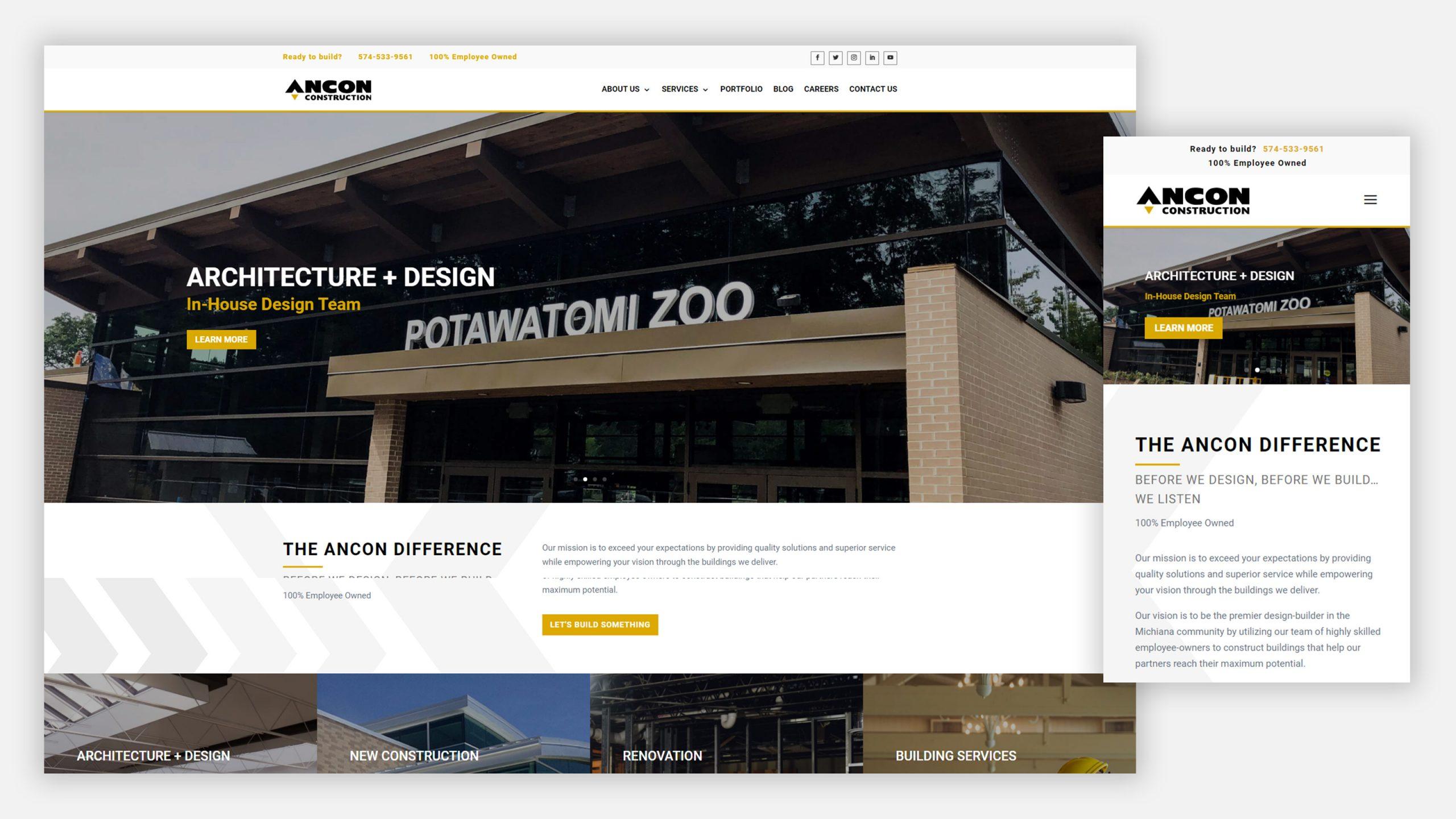 ancon construction website
